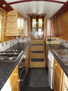The spacious galley