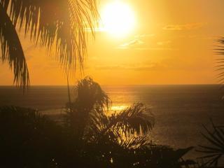 coucher de soleil de la terasse