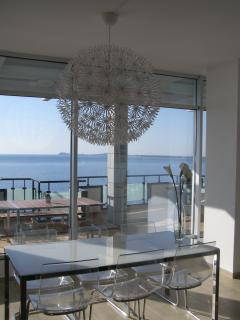 Dining area with wonderful sea view