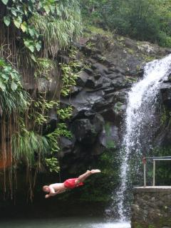 One of the Grenada waterfalls you can swim in