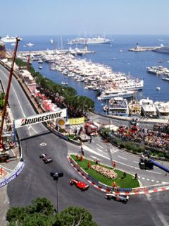 Exciting Monaco Grand Prix route -just a short walk
