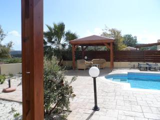 pergola from outdoor dining area