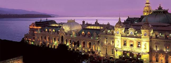 Monte-Carlo Casino at twilight - just a short stroll away