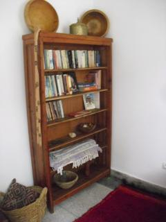 Small library in dining room