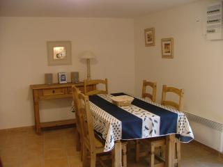 The dining area, ideal when it gets a bit chilly outside