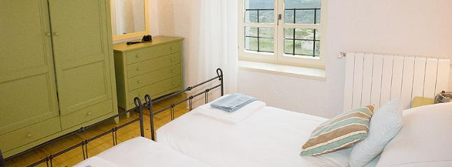 bedroom 2 - a cute twin room with great furnishings and fabulous views