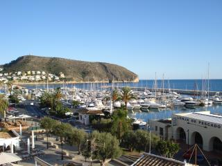 Moraira Marina as seen from the private terrace