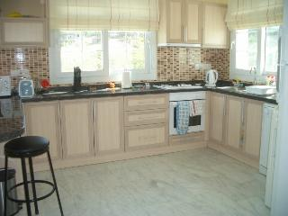 Fully equipped kitchen with b/fast bar