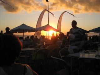 Sunset at the nearby famous Echo Beach and Beach Club Restaurant only a 15 minute drive away.