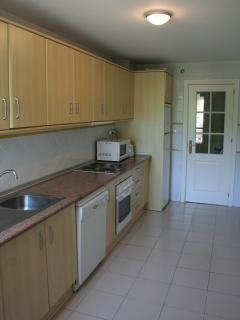 Modern fully equipped spacious kitchen