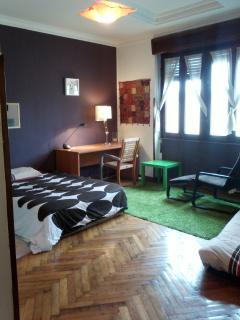 Habitación Lila, cama 135 + colchón 135