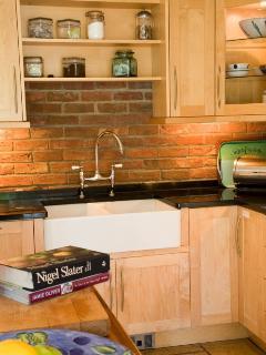 Kitchen preparation area Belfast sink