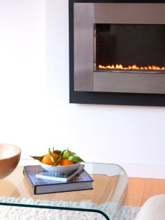 Gas fire for extra comfort