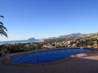 Early morning view on Pool terrace overlooking Bay