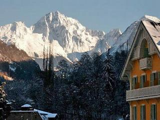 View from our duplex of the Grand Bec Massif de la Vanoise