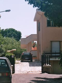 Apartment approach and private car parking