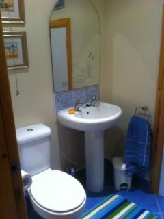 Shower room and toilet downstairs. With Power Shower