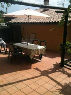Large Sun Terrace and Dining Area. Outside lighting and power.