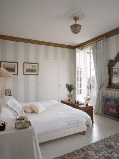 striped bedroom