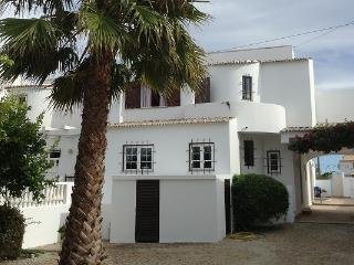 Back of villa with mature gardens and fruit trees