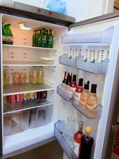 The fridge with fine  treats. Pay only for what you'd like to use