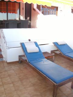 Sun terrace with sunbeds