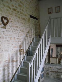 Stairway to bedrooms & shower room