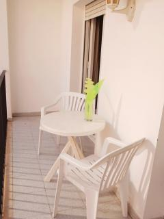 Nice balcony perfect for having breakfast, your meals or relaxing.