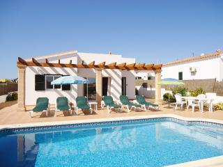 Villa Rioja pool area and sunbathing patio areas