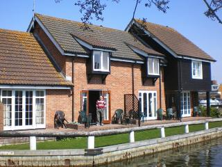 Bure Cottage Front Showing Patio & Lawn