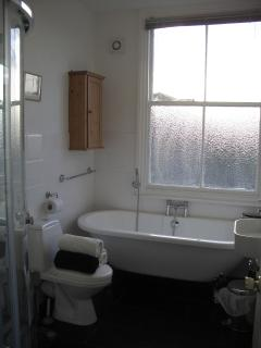 A newly fitted Victorian v Modern bathroom