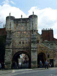 Bootham Bar - entrance to the city walls (at the end of the street)