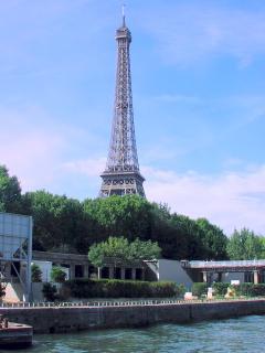 The Eiffel Tower in Paris - a 1hr 30min drive