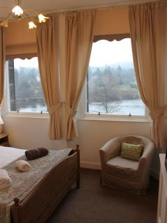 Bedroom with views over River Tay to Kinnoull Hill
