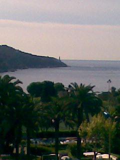 View to Cap Ferrat from bedroom