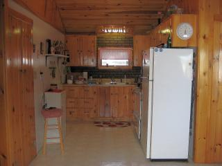 Kitchen, with everything you need, including a bread making machine.
