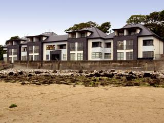 The Quay apartments from red Wharf Bay