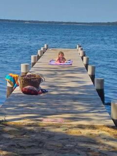 Swim from the private jetty, paddle board, widsurf or canoe & kayak