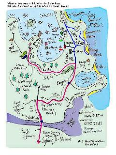 Many local attractions, National Park 5 mins away, beaches, restuarants, cafes, golf, 4WD tracks