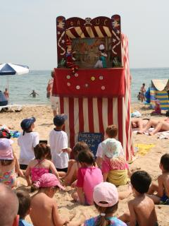 This Punch and Judy show comes to Alum Chine beach during the summer holiday season.