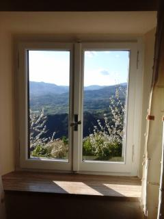 a spring view of the valley from the master bedroom
