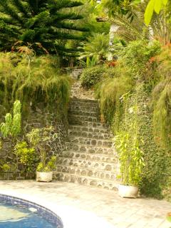 steps up to the villa