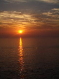 One of many of Porthtowan's famous and memorable sunsets