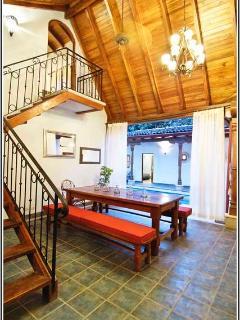 Access stairway to second floor / master bedroom