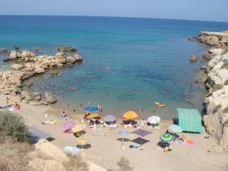 One of the many nearby unspoilt beaches. This photo was taken in August on a Cypriot bank holiday!