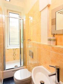 Shower room & WC with heated towel rail
