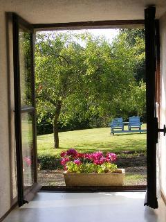 View over the garden from La Cidreraie
