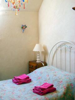 Romantic antique double bed