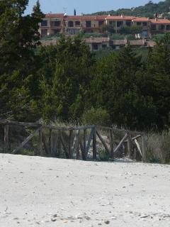 the house - view from Spiaggia bianca