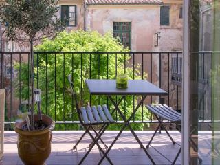 Historical centre Aix -Spacious Light Apartment with private carspace + balcony